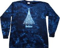 Christmas believe tie dye shirt