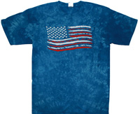 USA flag tie dye shirt