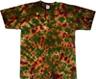 woodlands camouflage tie dye t shirt