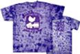 woodstock dove on purple tie dye t shirt