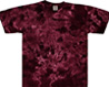 crinkle raspberry tie dye t shirt