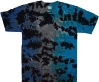 dark side crackle tie dye shirt