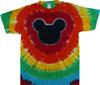 Rainbow ears tie dye t shirt