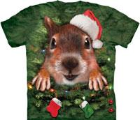 Christmas tree squirrel tie dye shirts