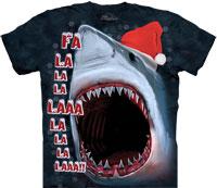 Christmas shark tie dye shirts