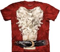 Christmas santa suit tie dye shirts