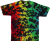 Rainbow crackle tie dye shirt