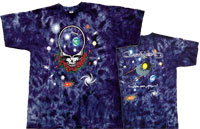 Grateful Dead Space Your Face tie dye shirt