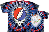 Grateful Dead Fare Thee Well tie dye tee