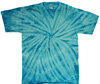 Turquoise spider tie dye shirt