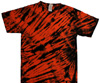 Orange and black tiger stripe
