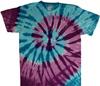Island spiral tie dye t shirt