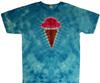 Ice cream cone tie dye t shirt