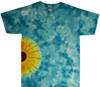 Side sunflower tie dye t shirt