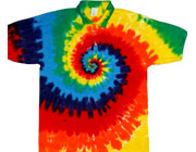 Collared tie dye shirts