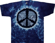 Peace sign tie dye shirts