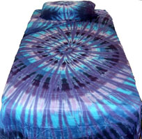 Twilight spiral tie dye bedding