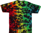Crinkle tie dyed shirts